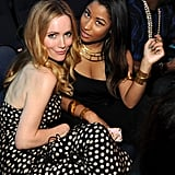 Leslie Mann and Nick Minaj posed for a snap.