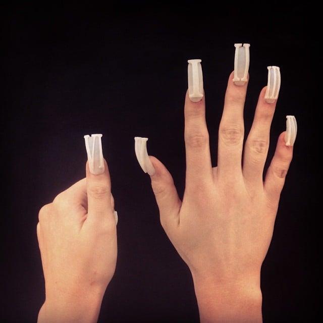 """Digits"" nails.   Source: Instagram user thelasergirls"