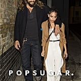 Jason Momoa Bonds With His Stepdaughter, Zoë Kravitz, While Out in London