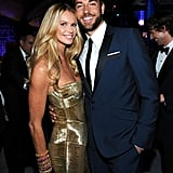 Elle Macpherson and Zachary Levi at the Golden Globes.