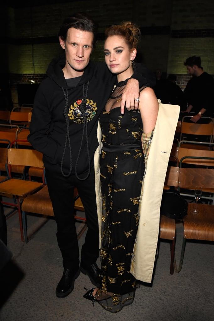 Matt Smith and Lily James