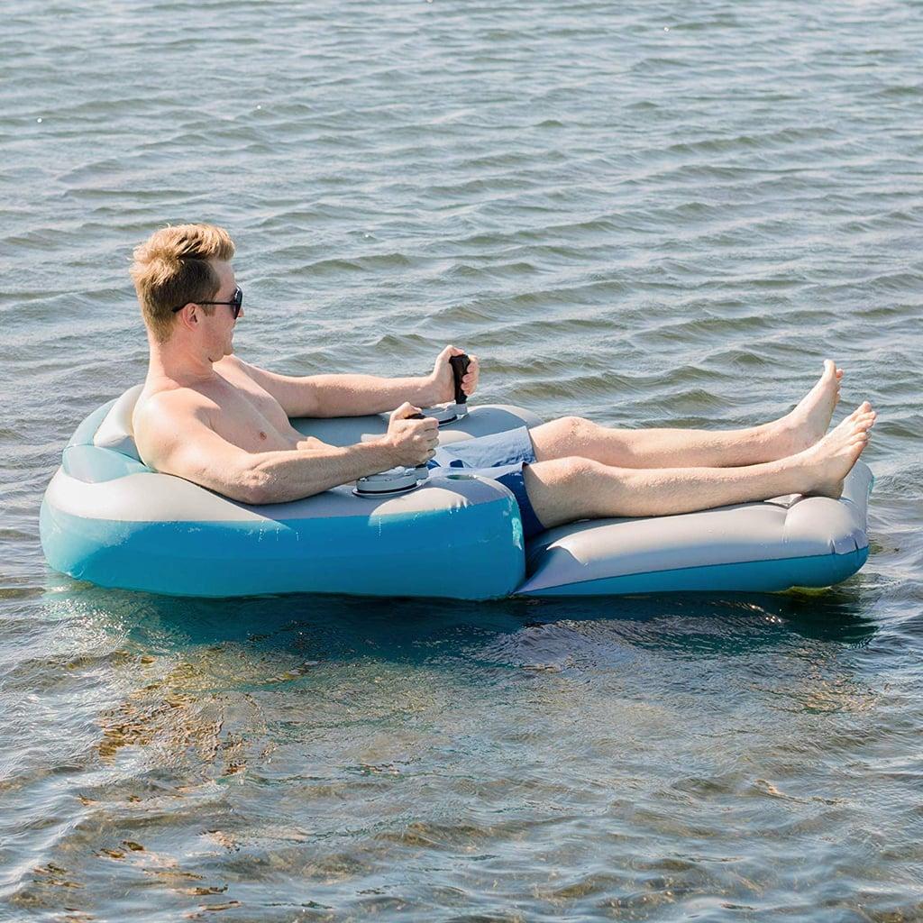 Poolcandy Splash Runner Motorized Inflatable Swimming Pool Lounger ...