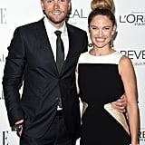 Joel McHale and Sarah Williams
