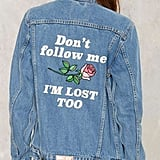 Factory Yeah Bunny Don't Follow Me Denim Jacket ($158)