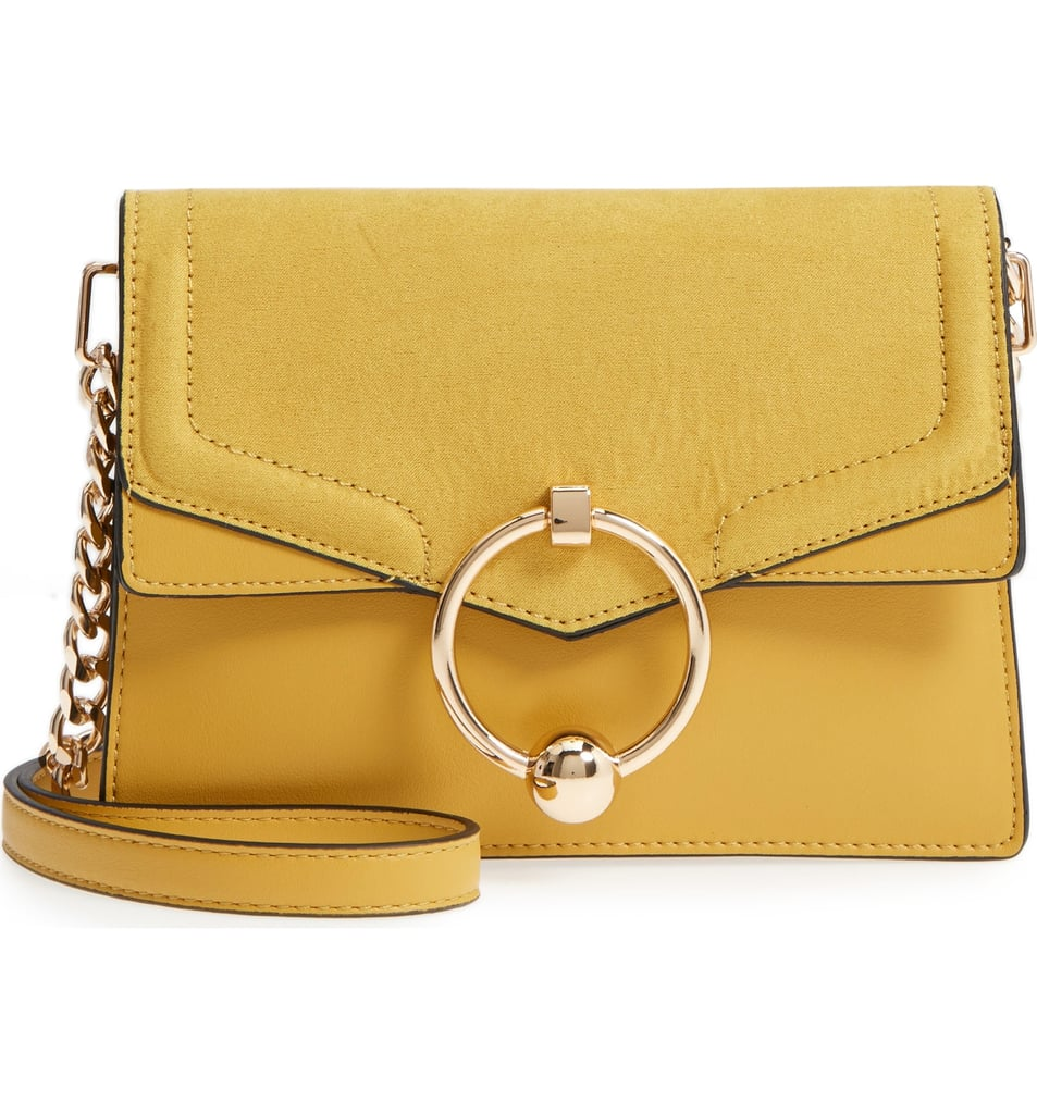 Topshop Seline Faux Leather Crossbody Bag