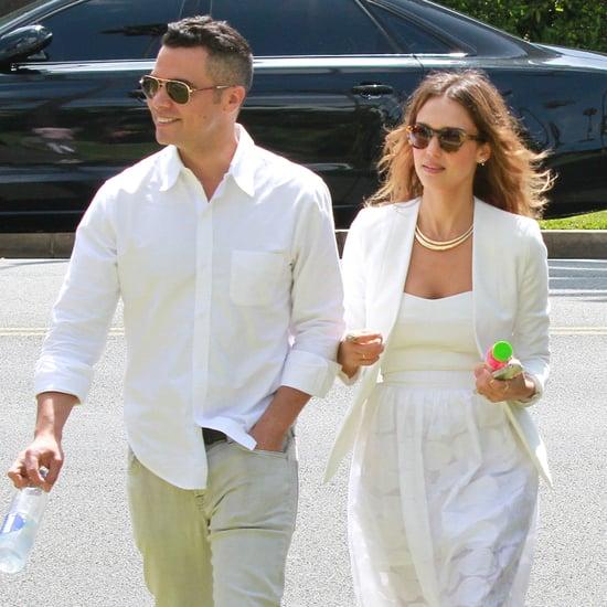 Jessica Alba and Cash Warren at a Friend's Wedding in LA