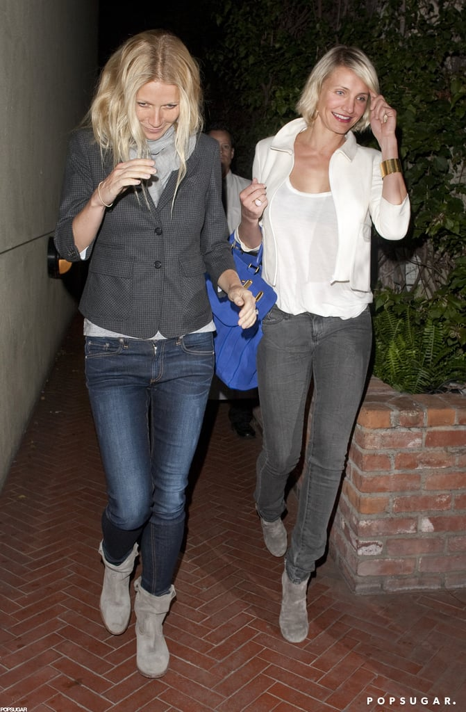 Cameron Diaz and Gwyneth Paltrow got dinner in LA.