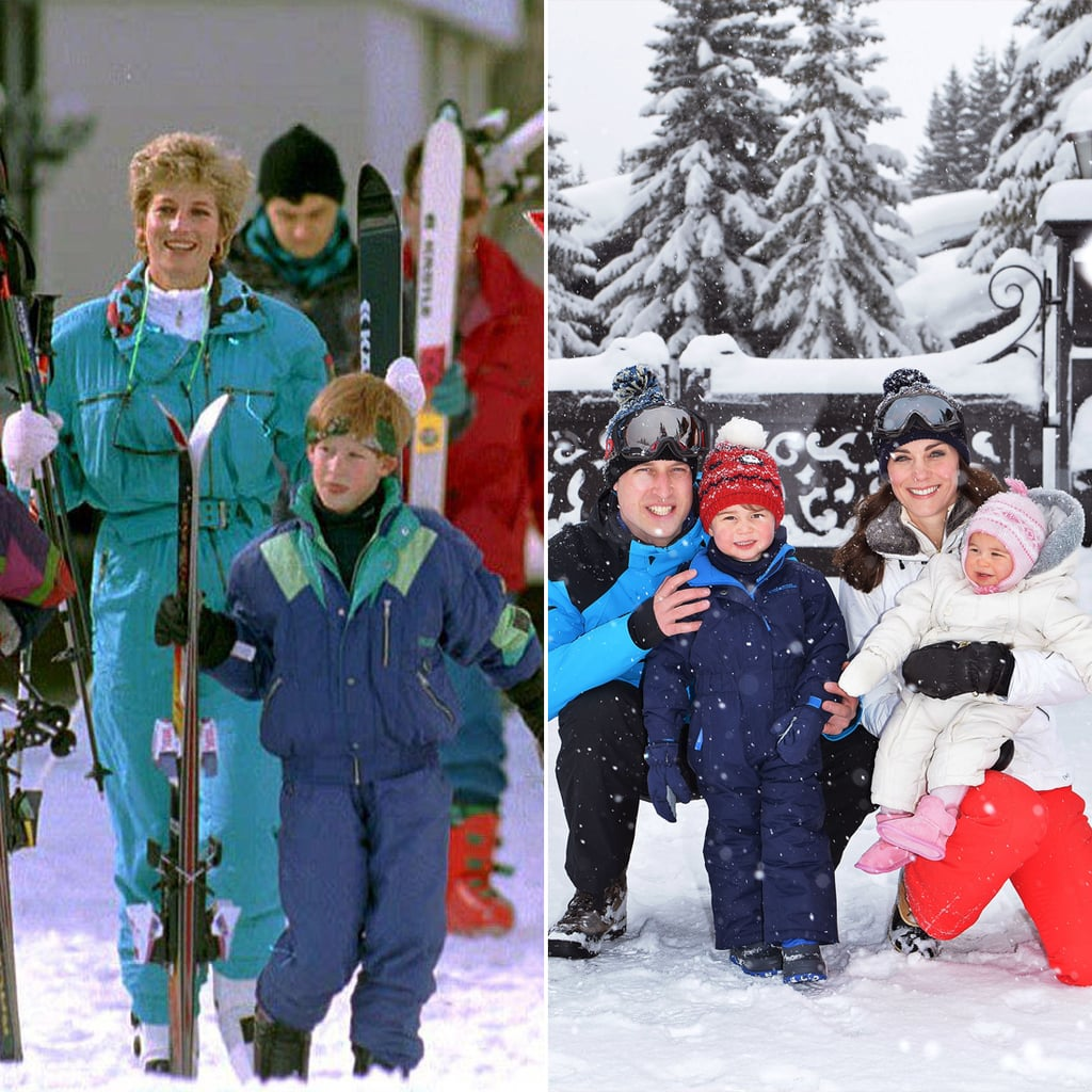 Prince William and Prince George's Ski Pictures
