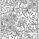 Get the coloring page: pumpkins