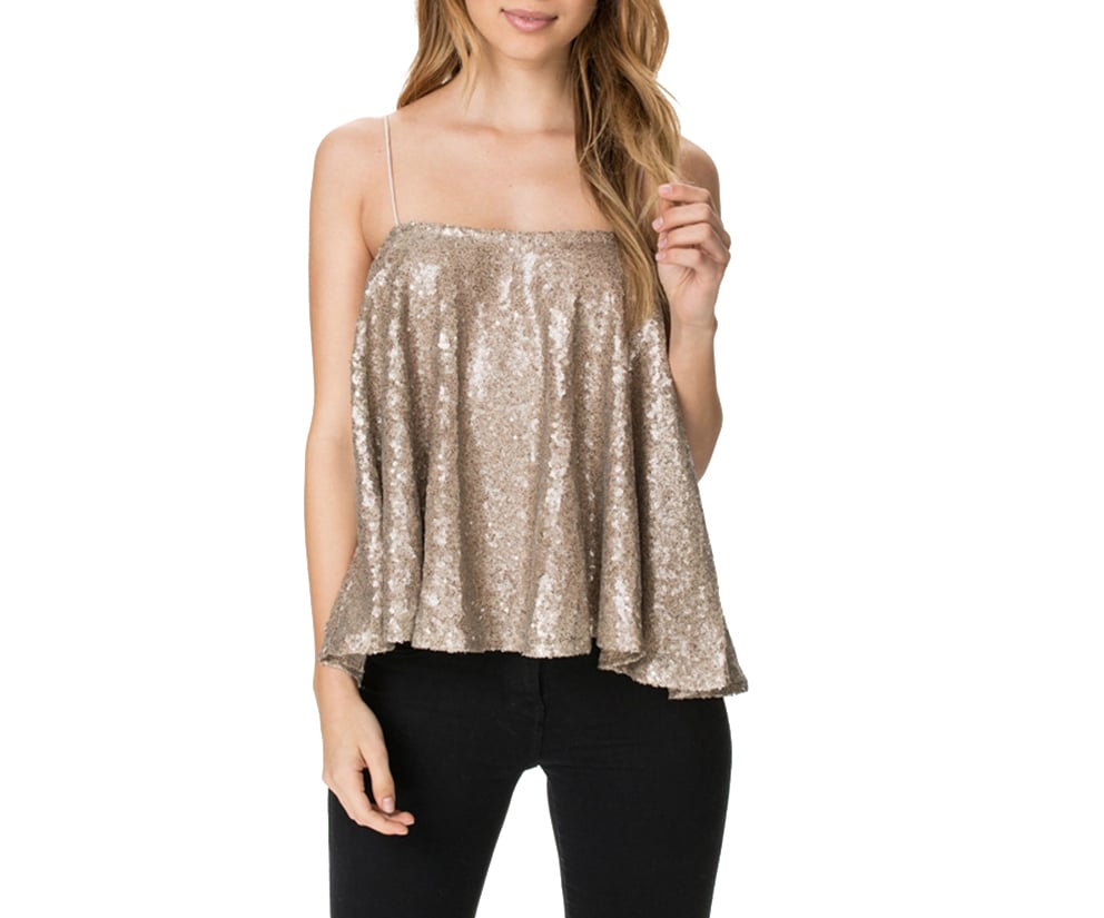 HaoDuoYi Sparkly Top