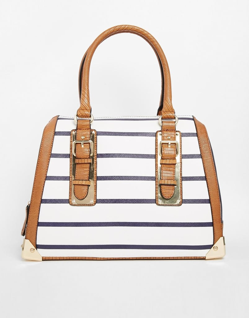 Aldo Barrel With Metal Plate Detailing ($65)