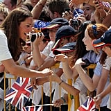 Kate Middleton laughed with her fans in Singapore.