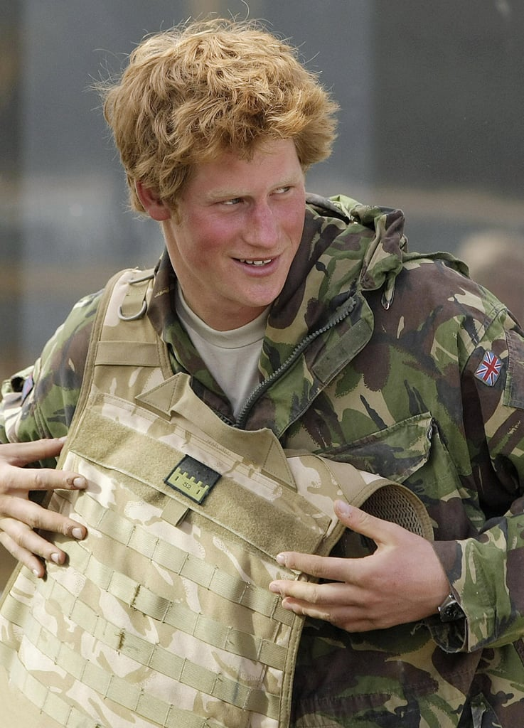 Prince Harry took his gear off upon arriving home after a 10-week tour of duty in Afghanistan in 2008.