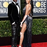 Winnie Harlow's LaQuan Smith Golden Globes Dress