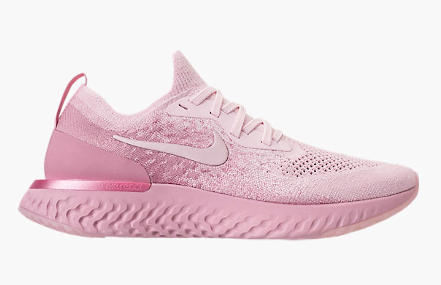 d813496945b Pink Nike Epic React Flyknit Sneakers