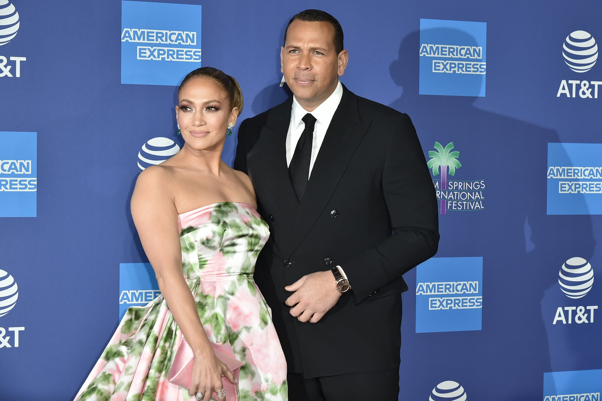 PALM SPRINGS, CALIFORNIA - JANUARY 02: Jennifer Lopez and Alex Rodriguez attend the 31st Annual Palm Springs International Film Festival Gala at Palm Springs Convention Center on January 02, 2020 in Palm Springs, California. (Photo by David Crotty/Patrick McMullan via Getty Images)