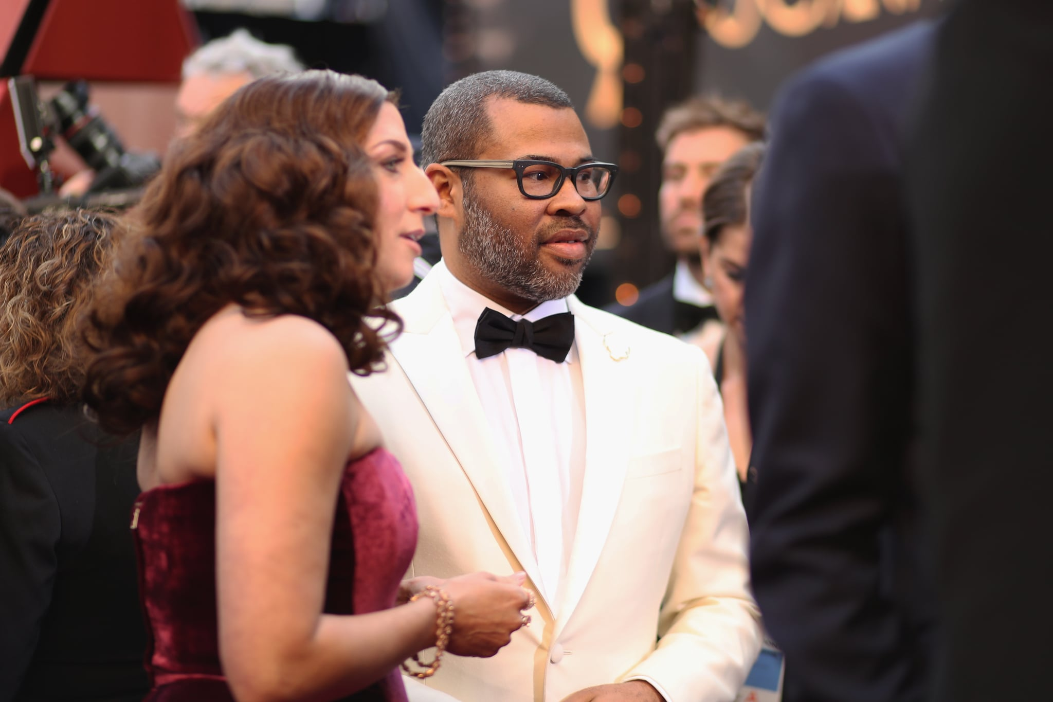 Pictured Chelsea Peretti And Jordan Peele 47 Of The Most Glamorous Candid Moments From This Year S Oscars Popsugar Celebrity Photo 44
