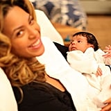 Beyoncé and Blue Ivy Carter were in a February 2012 photo. Source: Tumblr user helloblueivycarter