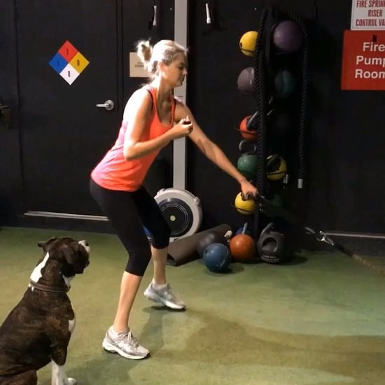 Kate Upton Working Out With Doughnut