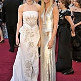 Nicole Kidman and Gwyneth made a stunning pair on the red carpet at the Oscars in February 2011.