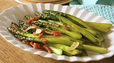 Spring Forward Side: Slow-Sautéed Asparagus with Pancetta