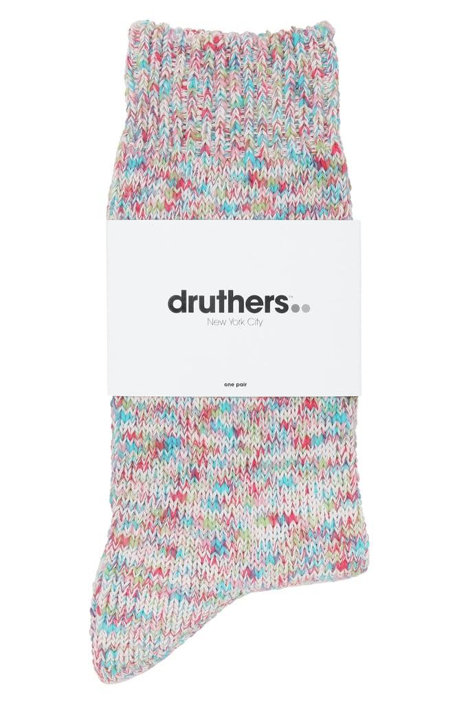 Druthers Tie Dye Yarn Organic Cotton Blend Crew Socks