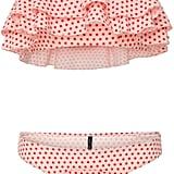Lisa Marie Fernandez Sabine Ruffled Polka-Dot Bikini