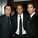 The guys looked handsome while backstage at the Emmys in 2003.
