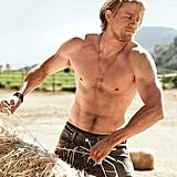 When He Did Some Shirtless Farm Work