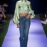 Puffy Sleeves on the Brandon Maxwell Runway at New York Fashion Week