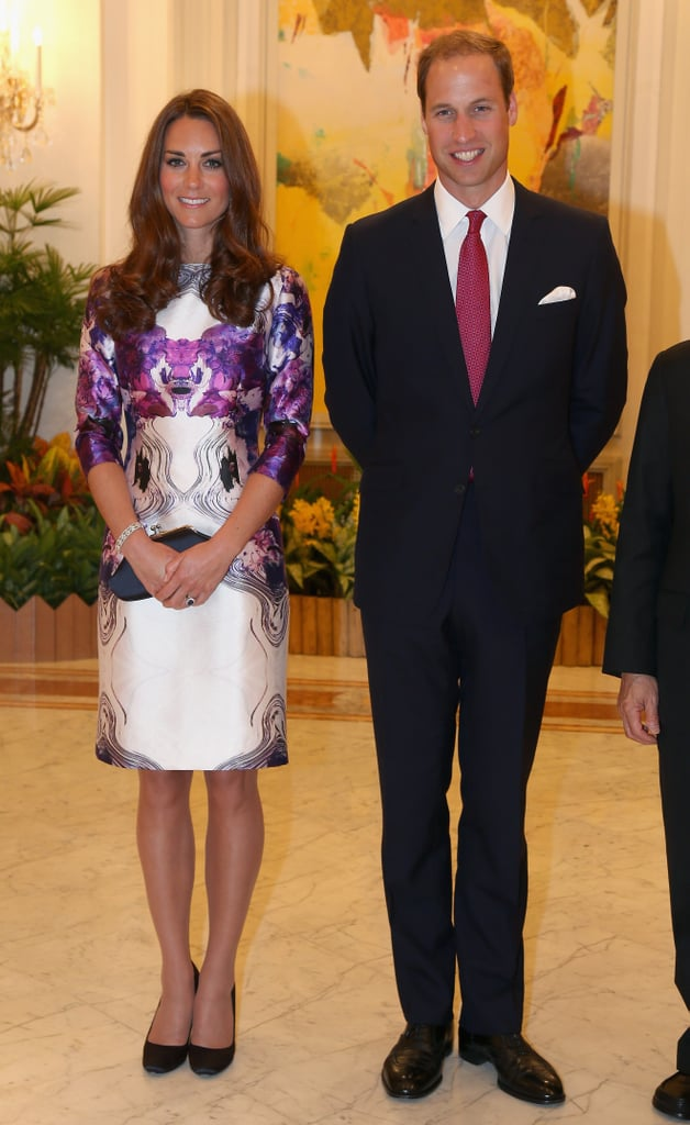 Kate Middleton and Prince William were color coordinated.