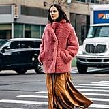 2019 Street Style Trend: Teddy Coats