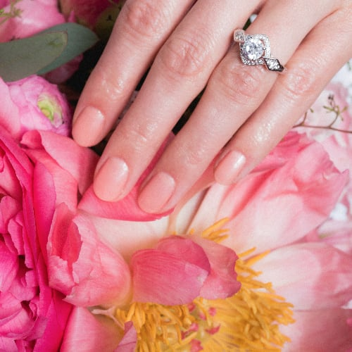 Bridal Nail Polish and Bouquet Ideas | POPSUGAR Beauty