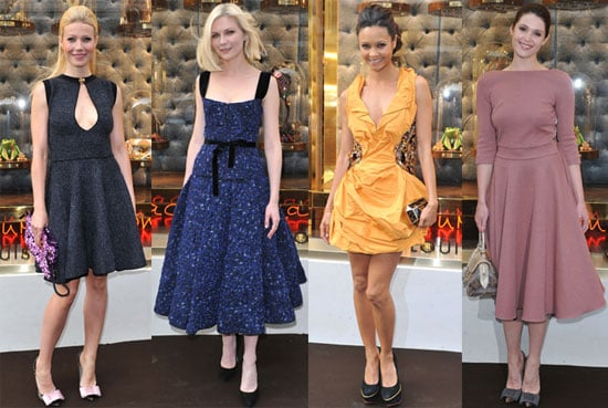 Pictures of Gwyneth Paltrow, Kirsten Dunst, Thandie Newton, Alexa Chung at Louis Vuitton Store Opening
