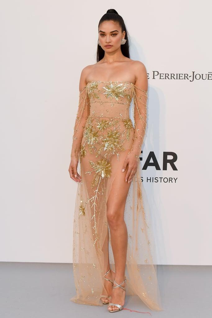 Shanina Shaik at the amfAR Cannes Gala