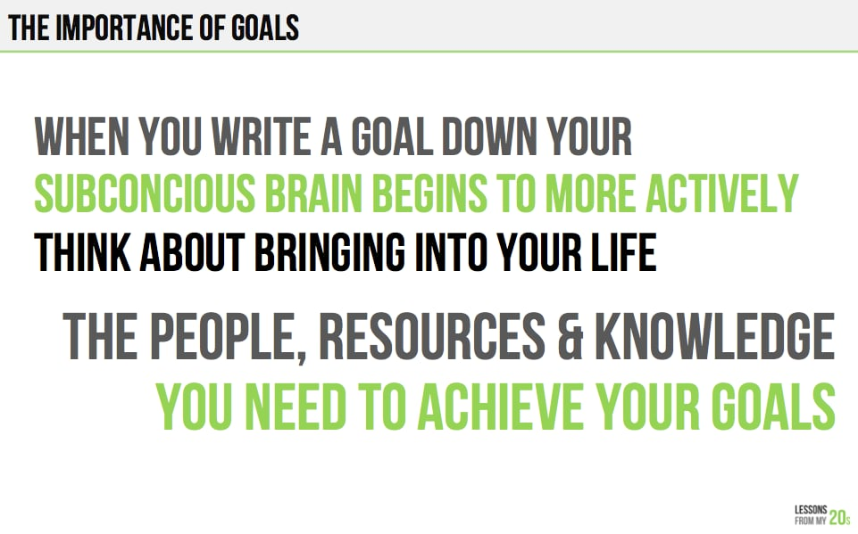 It's Important to Write Down Your Goals