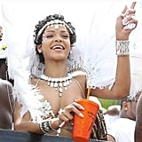 Rihanna celebrated at the Crop Over Festival in Bridgetown, Barbados. Source: Instagram user badgalriri