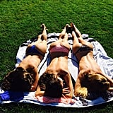 Alessandra Ambrosio got some sun with friends. Source: Instagram user alessandraambrosio