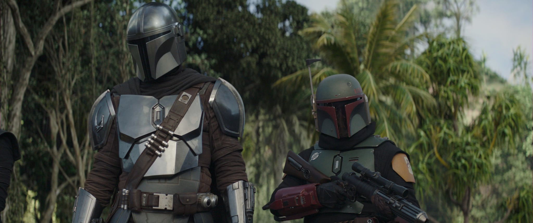 THE MANDALORIAN, from left: Pedro Pascal as The Mandalorian, Temuera Morrison as Boba Fett, 'Chapter 15: The Believer', (Season 2, ep. 207, aired Dec. 11, 2020). photo: Disney+/Lucasfilm / Courtesy Everett Collection