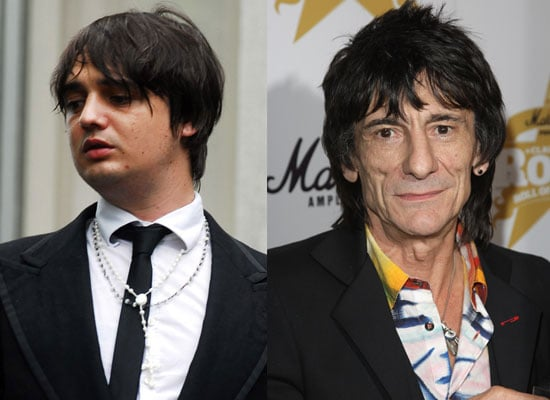 Photos of Pete Doherty Who Has Been Charged With Heroin Possession and Ronnie Wood Who Has Been Cautioned for Common Assault 2009-12-23 04:43:00