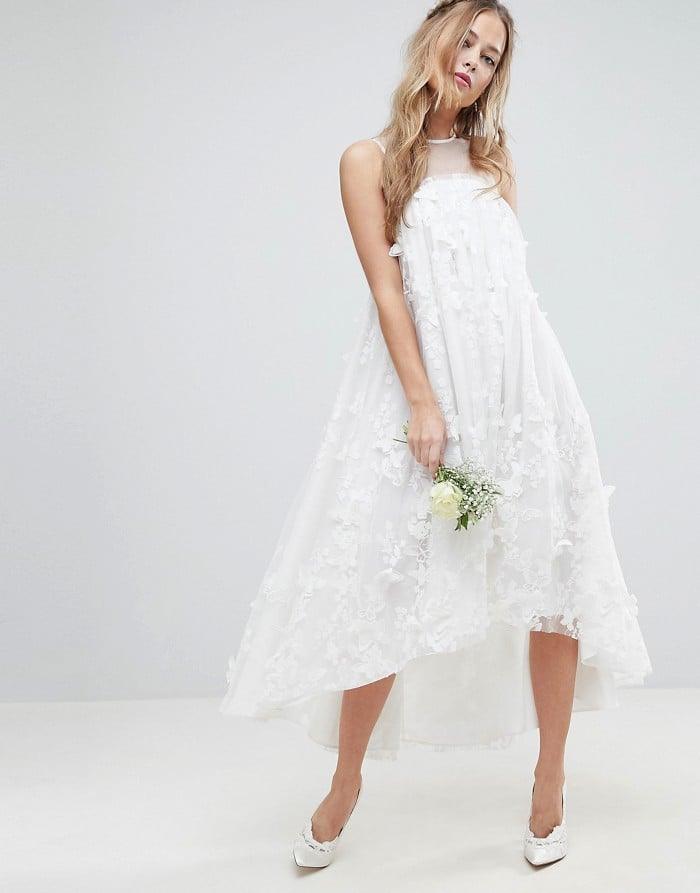Asos Edition Flower Midi Trapeze Wedding Dress Wedding Reception
