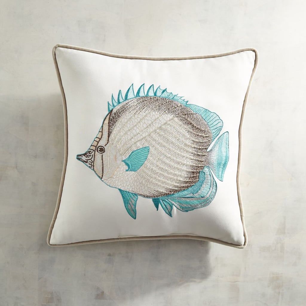 Beaded and Embroidered Fish Pillow