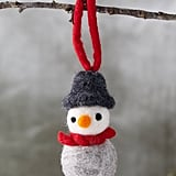 Felted Wool Snowman Ornament