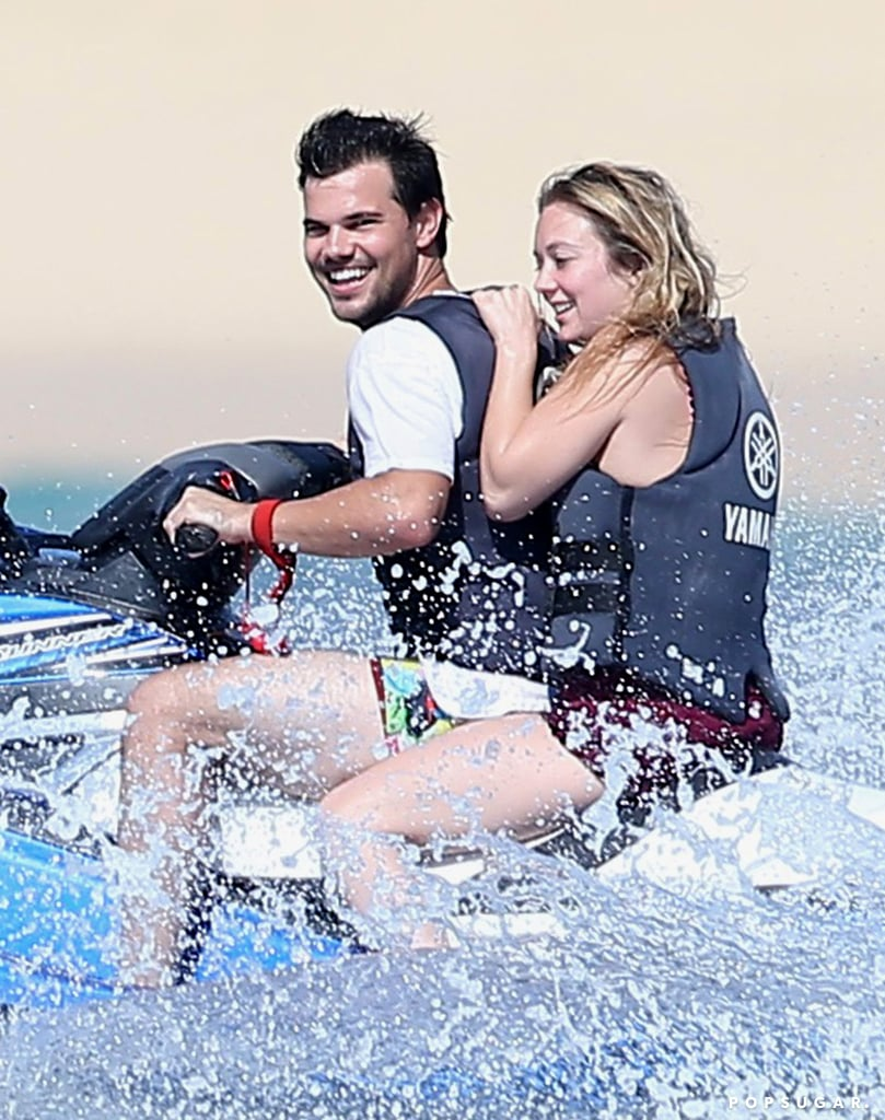 "Billie Lourd is finally getting some much-needed R&R. After a tough few weeks, the Scream Queens actress escaped to Cabo San Lucas with boyfriend Taylor Lautner. Taylor has been by Billie's side following the deaths of her mother, Carrie Fisher, and grandmother Debbie Reynolds, and on Friday, he shared an Instagram snap of them lounging. In addition to their poolside snap, the couple was spotted having some fun on a water slide and holding hands. Billie showcased her fit figure in a purple bikini, while Taylor showed off his shirtless physique in watermelon-print board shorts. The following day, the pair hit the ocean for a fun day of jet-skiing. Billie was all smiles as she wrapped her arms around Taylor while he navigated. Their romantic getaway comes a couple weeks after Taylor praised Billie on social media, writing, ""This girl is one of the strongest, most fearless individuals I've ever met. Absolutely beautiful inside and out. I'm lucky to know you @praisethelourd .. ❤️, me."" Billie and Taylor first sparked romance rumors after they were seen kissing at a wrap party for Scream Queens back in December. We just love seeing Billie happy!      Related:                                                                Billie Lourd Is Carrying On Her Family Legacy of Bold Women                                                                   A Look Back at the Unbreakable Bond Between Debbie Reynolds, Carrie Fisher, and Billie Lourd"