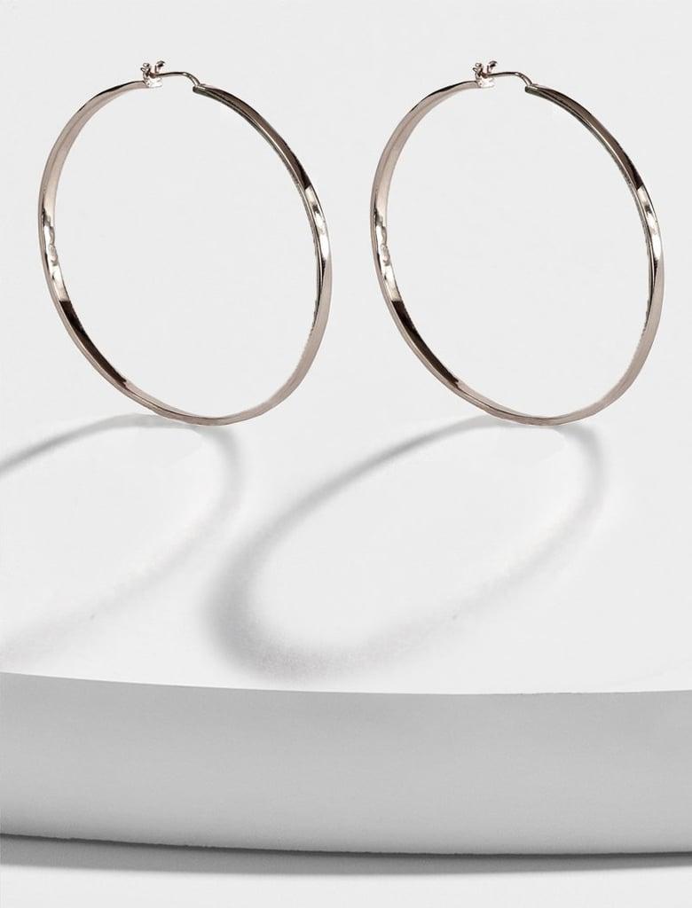 Sonia Hou Eternity 925 Sterling Silver Hoop Earrings