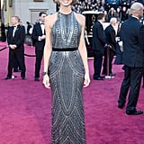 Stacy Keibler on the red carpet at the Oscars 2013.