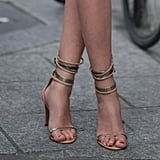 These slinky ankle-wrap sandals are the sexiest kind of Summer footwear.