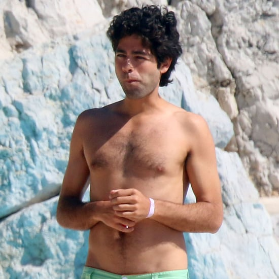 Adrian Grenier Shirtless by the Pool in Cannes