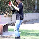 Sandra Bullock whipped out her camera phone to capture adorable pictures of Louis.
