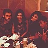 Kourtney Kardashian and Scott Disick went out on a double dinner date with Kendall Jenner and her boyfriend, Jaden Smith. Source: Instagram user kourtneykardash